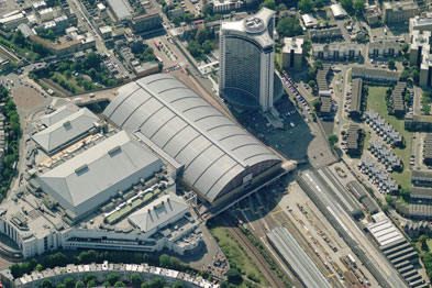 An aerial view of Earl's Court in London