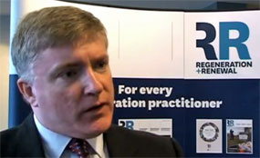 Business and enterprise minister Mark Prisk talks to Regeneration & Renewal