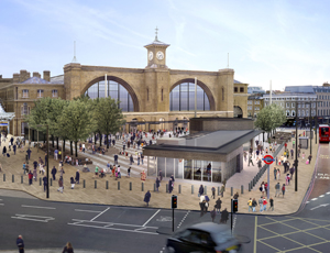 The new public square at King's Cross will be used by 140,000 people each day
