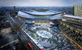 A visualisation of Tottenham Hotspur Football Club's new stadium