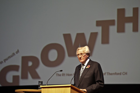 Lord Heseltine at the report launch. Picture: Bisgovuk from Flickr