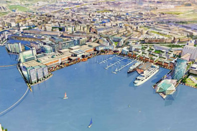 A visualisation of Leith waterfront