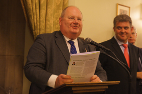 Communities secretary Eric Pickles (left) and Brandon Lewis MP at the report launch