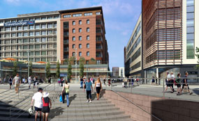 Visualisation of a planned commercial scheme in Stockport