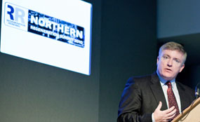 Business and enterprise minister Mark Prisk told the Northern Regeneration Summit that regional development agencies had failed to help close the North-South divide.