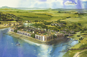 A visualisation of the proposed marina development