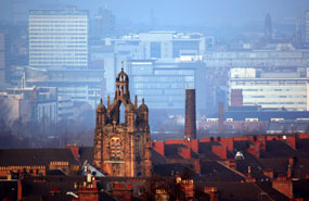 Glasgow: city has seen one of sharpest falls in private sector employment