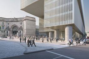 The proposed Elizabeth House scheme includes public realm improvements
