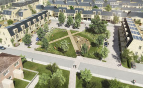 Dollis Valley: artist's impression of the redeveloment