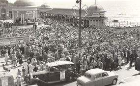 Hastings Pier in its 1960s heyday