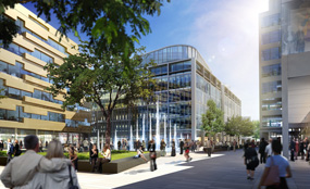 A CGI of developer Muse's plans for Union Square, Swindon