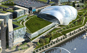 Developer 1NG is delivering this exhibition and conference centre in Newcastle-Gateshead.