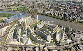 A visualisation of Treasury Holdings' Battersea Power Station redevelopment