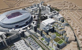A CGI of Quintain's plans for Wembley City