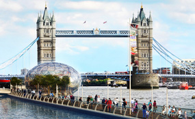 A CGI of London River Park