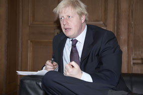 London mayor Boris Johnson (Photograph Tom Campbell)