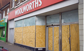 Nearly 30 per cent of Blackpool's shops are empty.