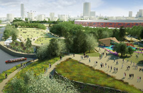 Olympic Park: panel to guide on park designs