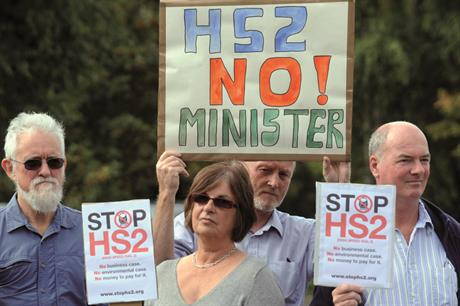 HS2 protest: Cameron says project would bring North and South 'together in our national endeavour'