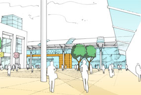 Telford: artists's impression of the redevelopment
