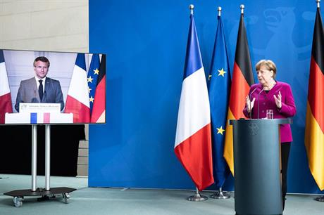 French-German initiative… A plan presented by chancellor Angela Merkel and president Emmanuel Macron on 18 May for a €500-billion EU recovery fund includes accelarating the green deal (pic: Bundesregierung/Steins)