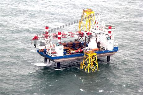 RWE has started installing foundations for its 295MW Nordsee Ost project, but grid connection has been delayed