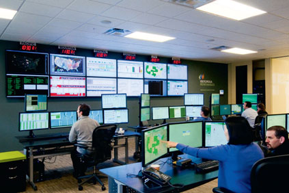 Mission control. Iberdrola staff work around the clock to monitor the firms 2,500-plus turbines