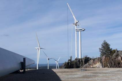 The Cova da Serpe wind park close to the city of Lugo, Spain