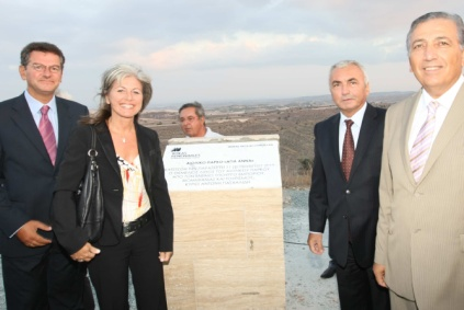 The foundation laying ceremony for the Rokas wind farm in Cyprus