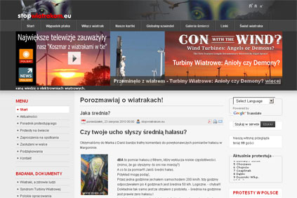 Stopwiatrakom.eu publishes information on wind farm protests