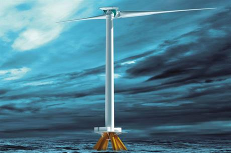 Two blades… Aerodyn's SCD, an 8MW downwind turbine