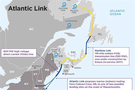 Overview of Emera's Atlantic Link project