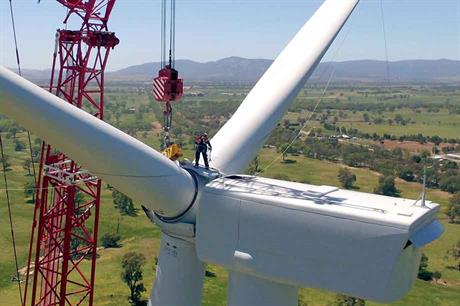 Pressing ahead… Wind power is growing in Australia again, despite the lack of federal support (pic:RES Australia)