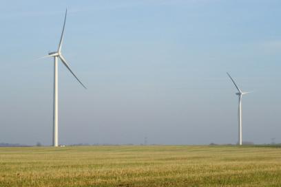 Fonds-de-Fresne Somme département, Picardie region. France has 5GW of wind power online.