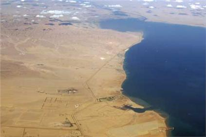 The Gulf of Suez is the site of a 250MW wind power project