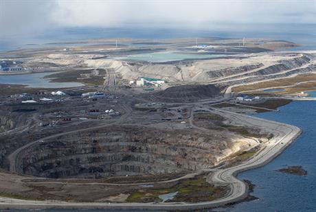 Diesel support… Four Enercon turbines supply 10% of power to Canada's Diavik diamond mine
