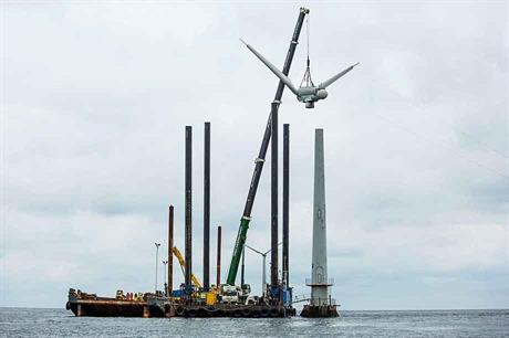Pioneer… Vindeby, the world's first offshore wind farm, was dismantled (pic: Dong Energy)