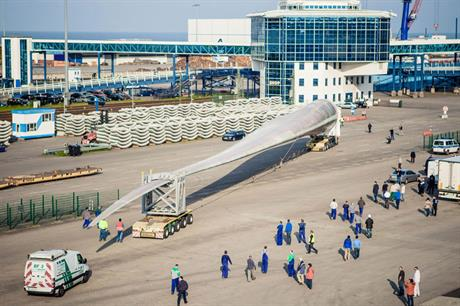 Euros M-EU167… At 81.6 metres, it is the world's longest fully certified blade for offshore use