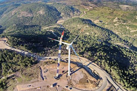 Ambitious plans… The Turkish government aims to more than triple installed wind capacity to 25GW by 2030 (pic: EnBW)