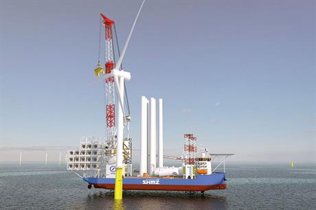 Telescopic vision… GustoMSC's crane design aims at easing installation of very large-scale offshore turbines
