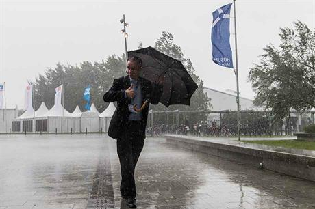 Fair weather fair… Wind and rain put a stop to proceedings in Husum (pic: Tim Riediger/HusumWind)