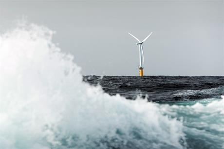 Hywind Scotland, set to be first online commercial project.     Pic: Karmoy Rogaland Statoil