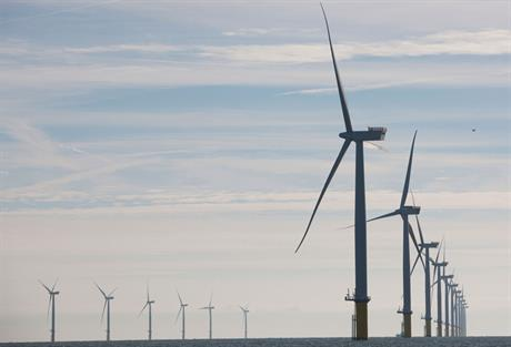 Capacity boost… The 389MW West of Duddon Sands came online in October