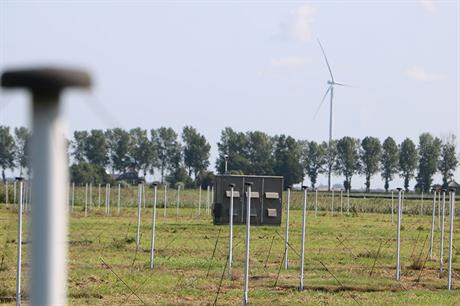 In the field… The modified N131 prototype installed close to antenna array