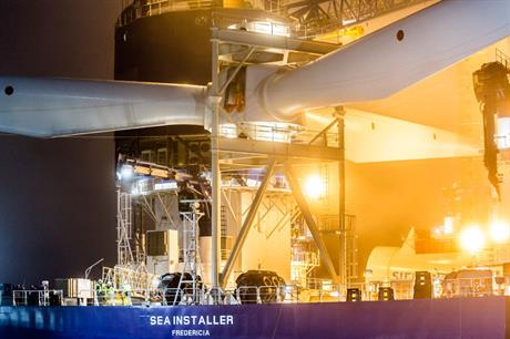 Partners Dong and Siemens co-own A2Sea, which supplies installation vessels (pic:Siemens)
