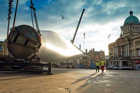 Art installation… SGRE's B82 builds on lessons learned from B75 series, on show when Hull launched its tenure as the UK's city of culture in 2017