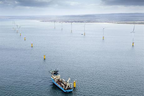 Setting sail…The 62MW Teesside wind farm in the UK is EDF EN's first fully owned offshore project