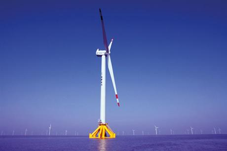 Early start… CSIC Haizhuang Windpower installed two initial 5MW prototypes in 2012 (pic: LM Wind Power)