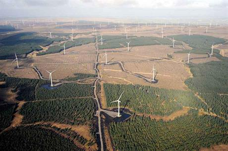 Rare species: The 539MW Whitelee wind farm in Scotland, owned by Iberdrola subsidiary Scottish Power, is one of the few super-sized projects in Europe
