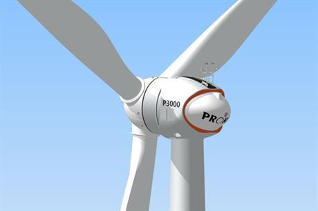 Prokon's 3MW turbine